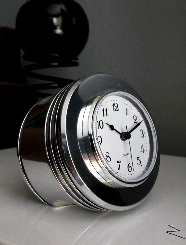 Radial Engine Polished Piston Desk Clock made from Boeing