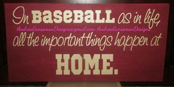 Baseball Home Decor Canvas Decor Baseball Decor Home Decor