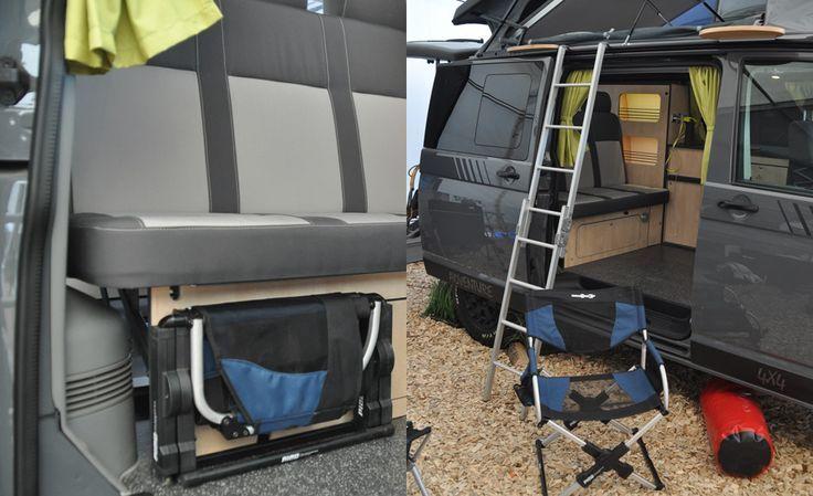leiter f r zum hubdachbett aufstelldach schlafdach vw t5. Black Bedroom Furniture Sets. Home Design Ideas