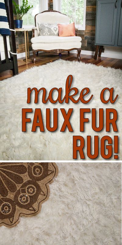 How to make your own DIY faux fur rug. Washable and