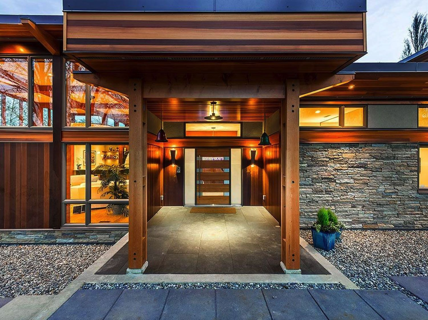 Step into this jawdropping West Coast modern home that's