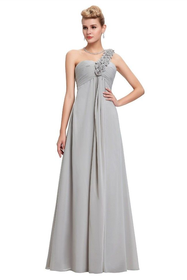 gray empire shoulder dress