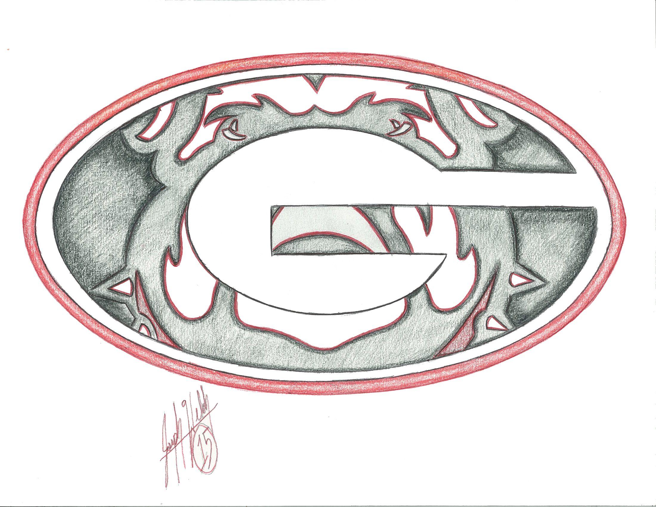 Georgia Bulldogs Drawings Fine Art Pinterest Georgia Tattoo