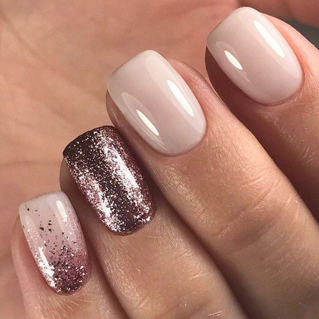 Pink Rose Gold Nail Naildesign Cute Nails Pinterest Nails