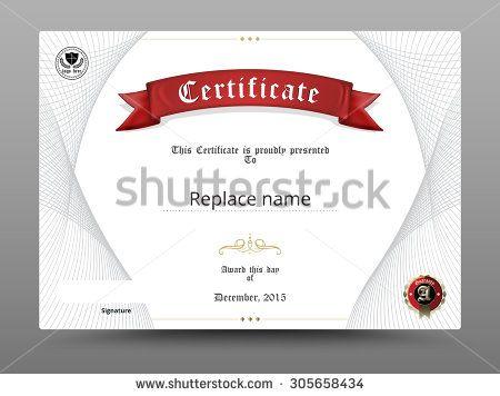 Certificate diploma border, Certificate template Design on white - Corporate Certificate Template