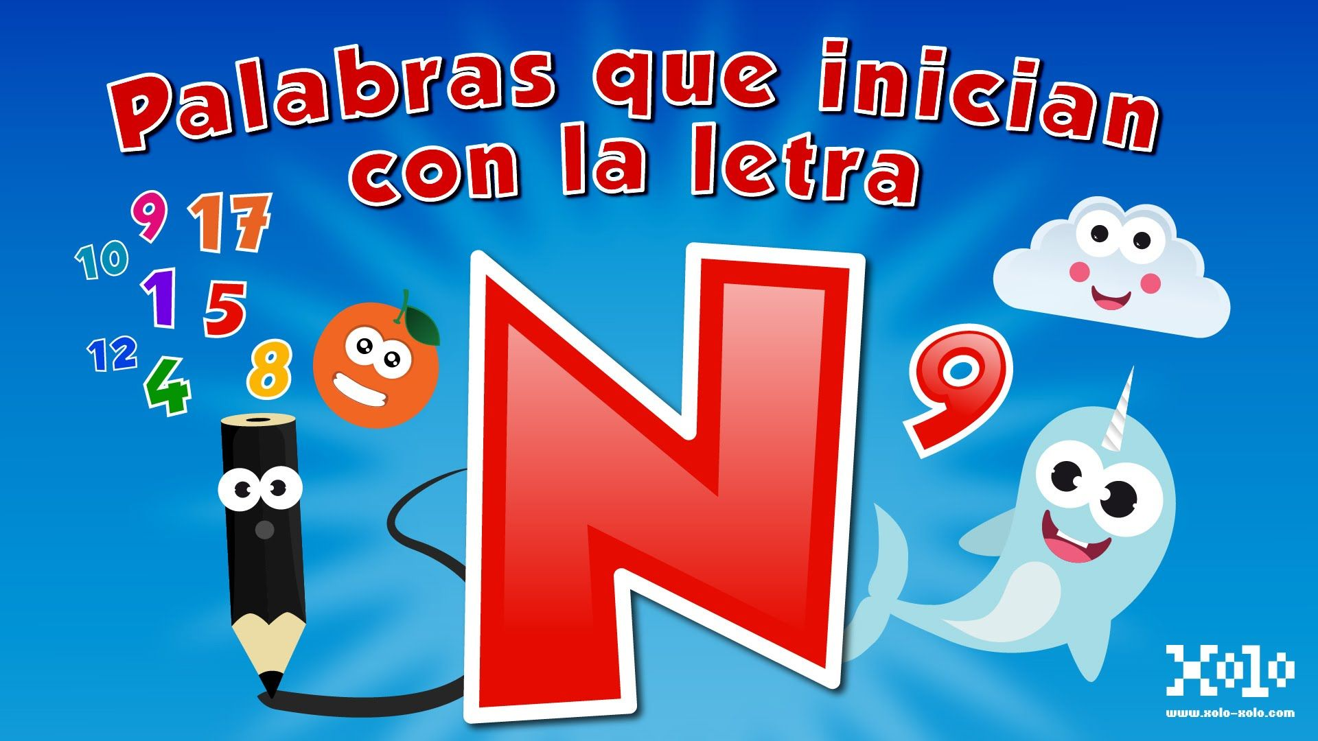 Words that start with the letter N in Spanish for children