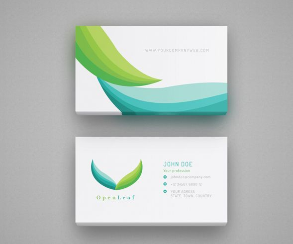 Stock Logo And Business Card  Openleaf Medical Logos  Vostred
