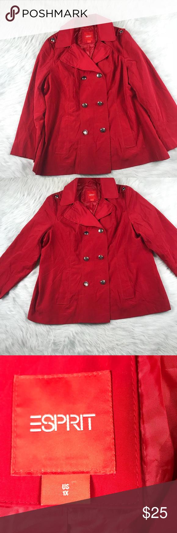 Women S Esprit Red Jacket Size 1x Red Jacket Jackets Clothes Design [ 1740 x 580 Pixel ]