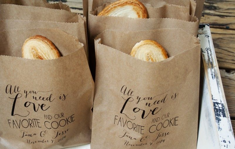 Personalized Cookie Kraft Favor Bags