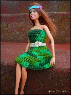 Mamma That Makes: Crochet pattern - Barbie Garden Dress