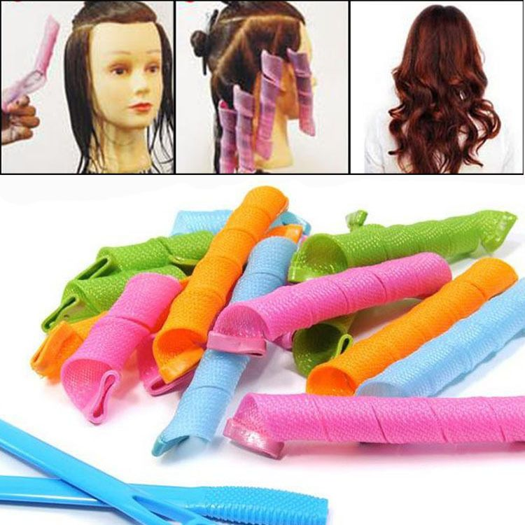 hair styling rollers 18pcs hair curlers twist spiral circle curlformers magic 5886