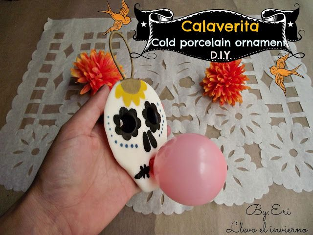 Day of the dead! Calaverita cold porcelain ornament D.I.Y.