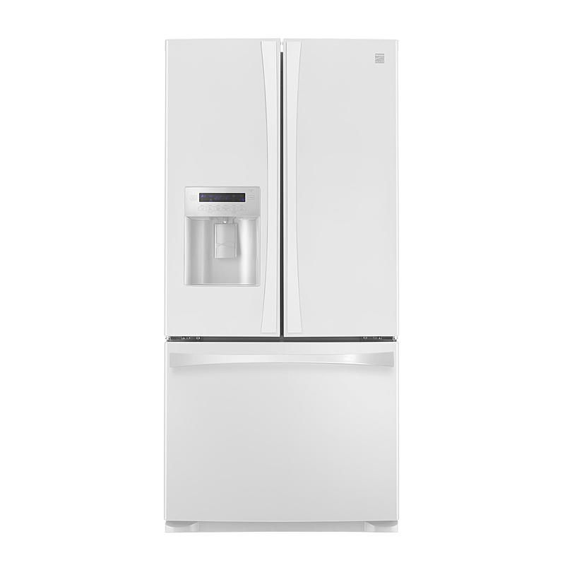 Kenmore Elite 71032 25 0 Cu Ft French Door Bottom Freezer Refrigerator White Refrigerator Storage Refrigerator Bottom Freezer Refrigerator