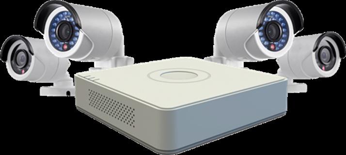 DVR Hikvision con 4 Cámeras de Alta Resolución de 4 canales