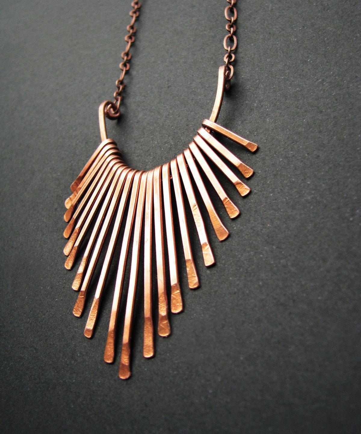 Copper Necklace - Fringe Freya Design - handmade copper jewelry in ...