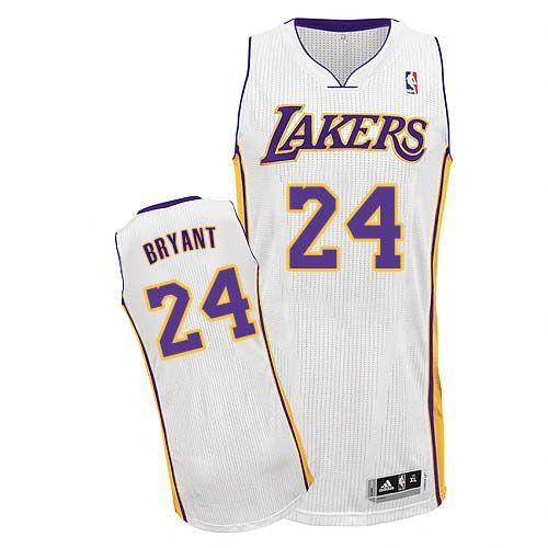 Men s Kobe Bryant Authentic White Jersey  Adidas  24 NBA Los Angeles Lakers  Alternate 0fae88e86