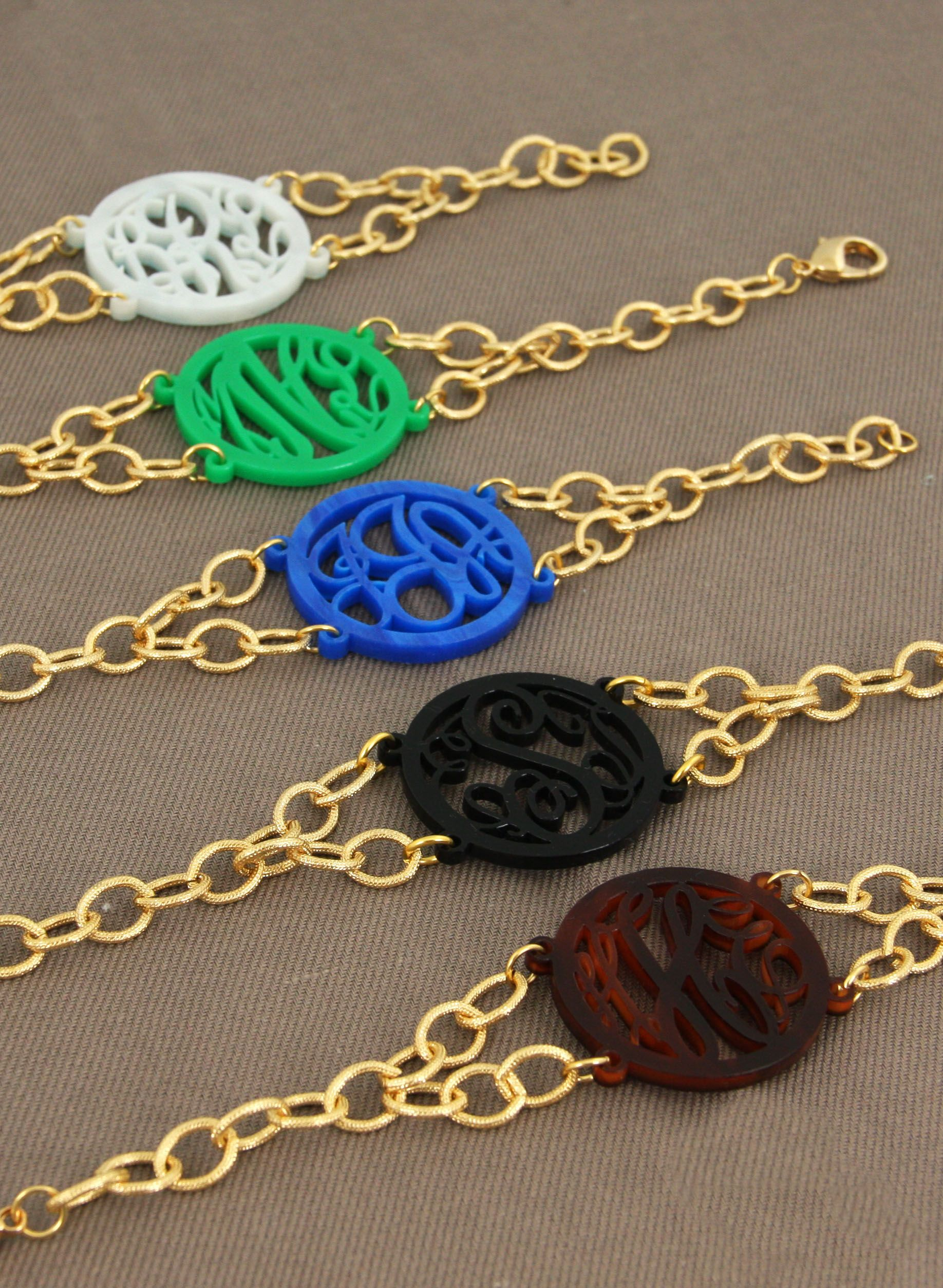 acrylic filigree bracelets from initial outfitters  love   59
