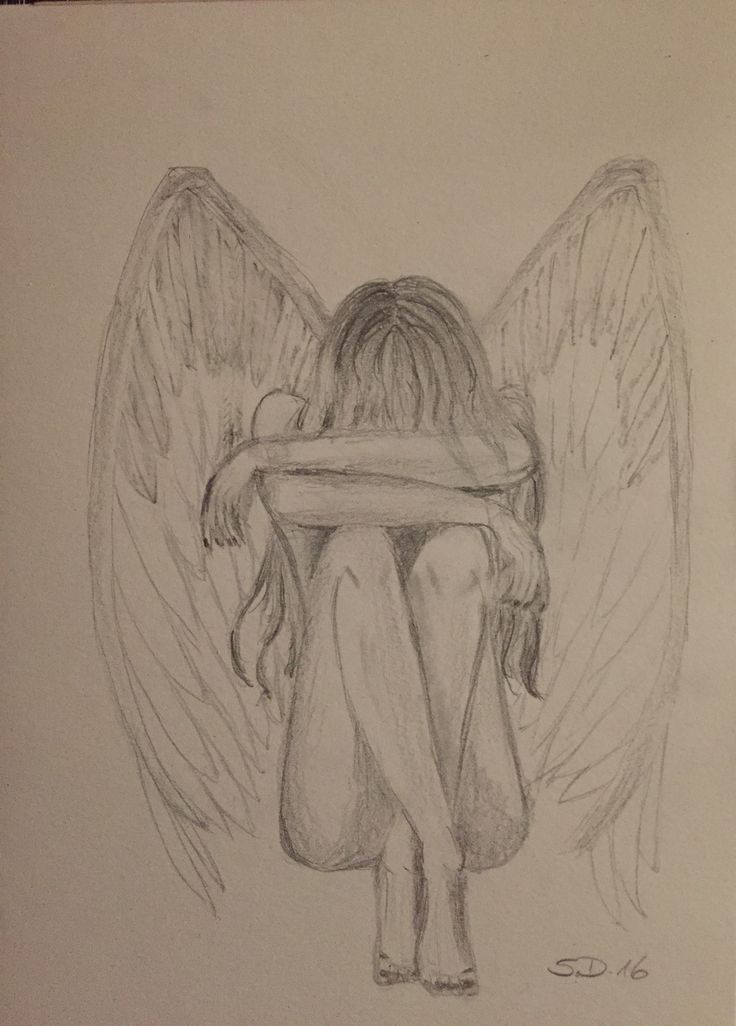 Photo of Angel pencil drawing – Janine – Let's Pin This