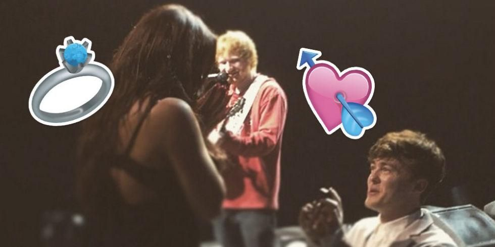 Congrats to @Jake_Rixton & Jesy Nelson who just got engaged with some help from Ed Sheeran  http://on.sugarsca.pe/1e9zPSe
