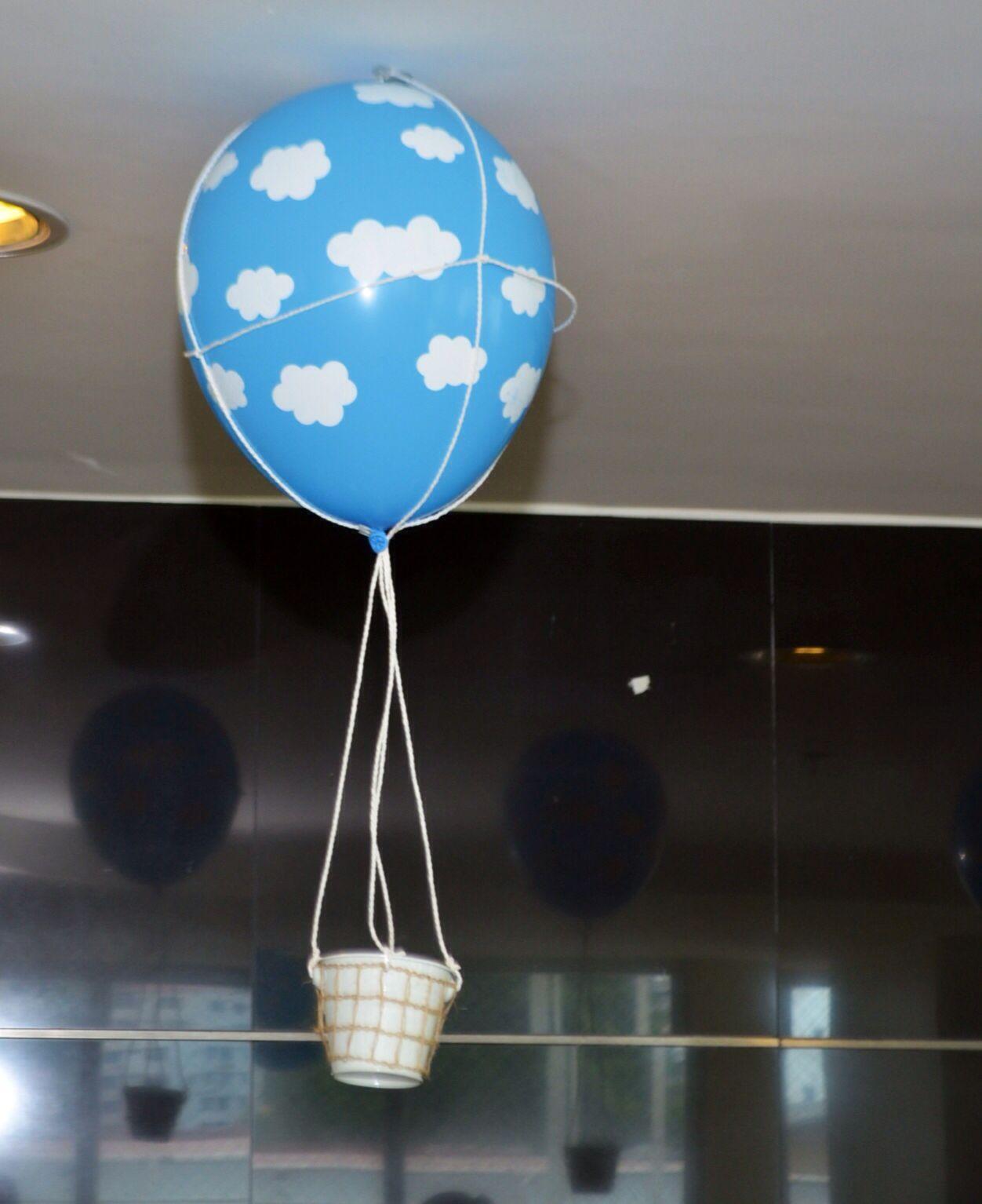 Globo de helio en forma de globo aerost tico para bautizo - Helio para inflar globos barato ...