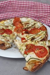 Fitness Tomaten-Zucchini-Quiche mit Haferflocken und Skyr -  - #Fitness #Haferflocken #mit #Skyr #To...