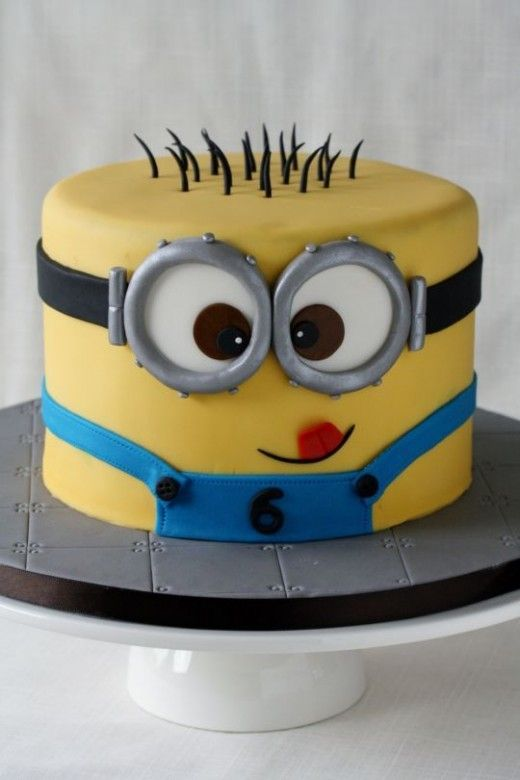 Minions Birthday Cake despicable me minions party Pinterest