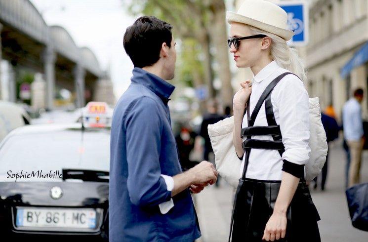 #women #paris #mensfashionweek #hat  #fashion #style #look #outfit #streetfashion #streetstyle #street #women #mode #femme #moda by #sophiemhabille
