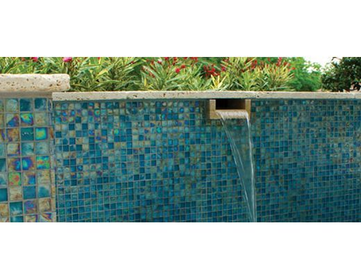 Pool Tile Textures | National Pool Tile Arctic 1x1 Glass Series Pool Tile |  Lagoon |  National Pool Design