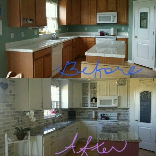 DIY kitchen update. Used Benjamin Moore advance paint for ...