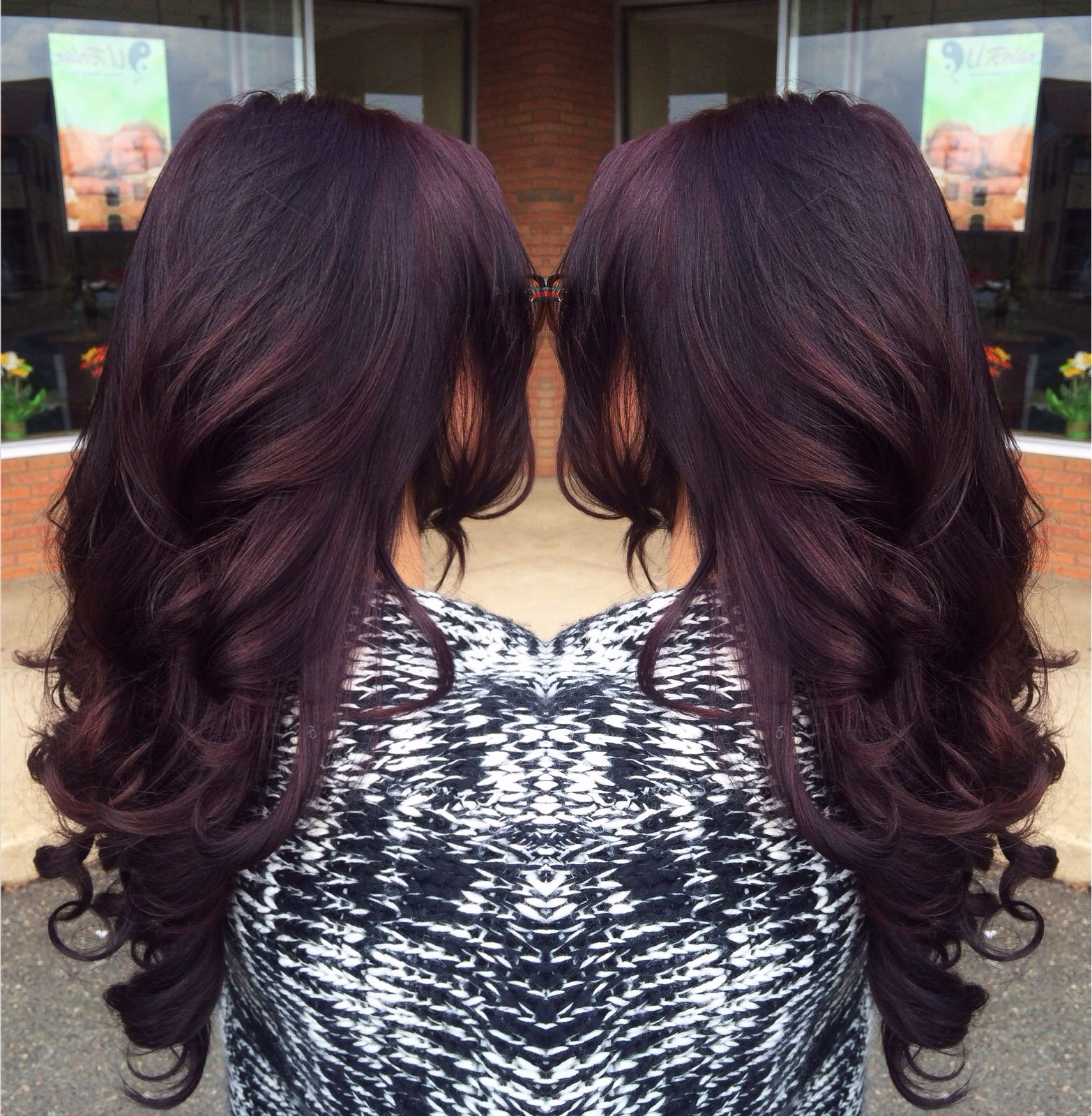 Plum … | Plum hair color | Purpl…