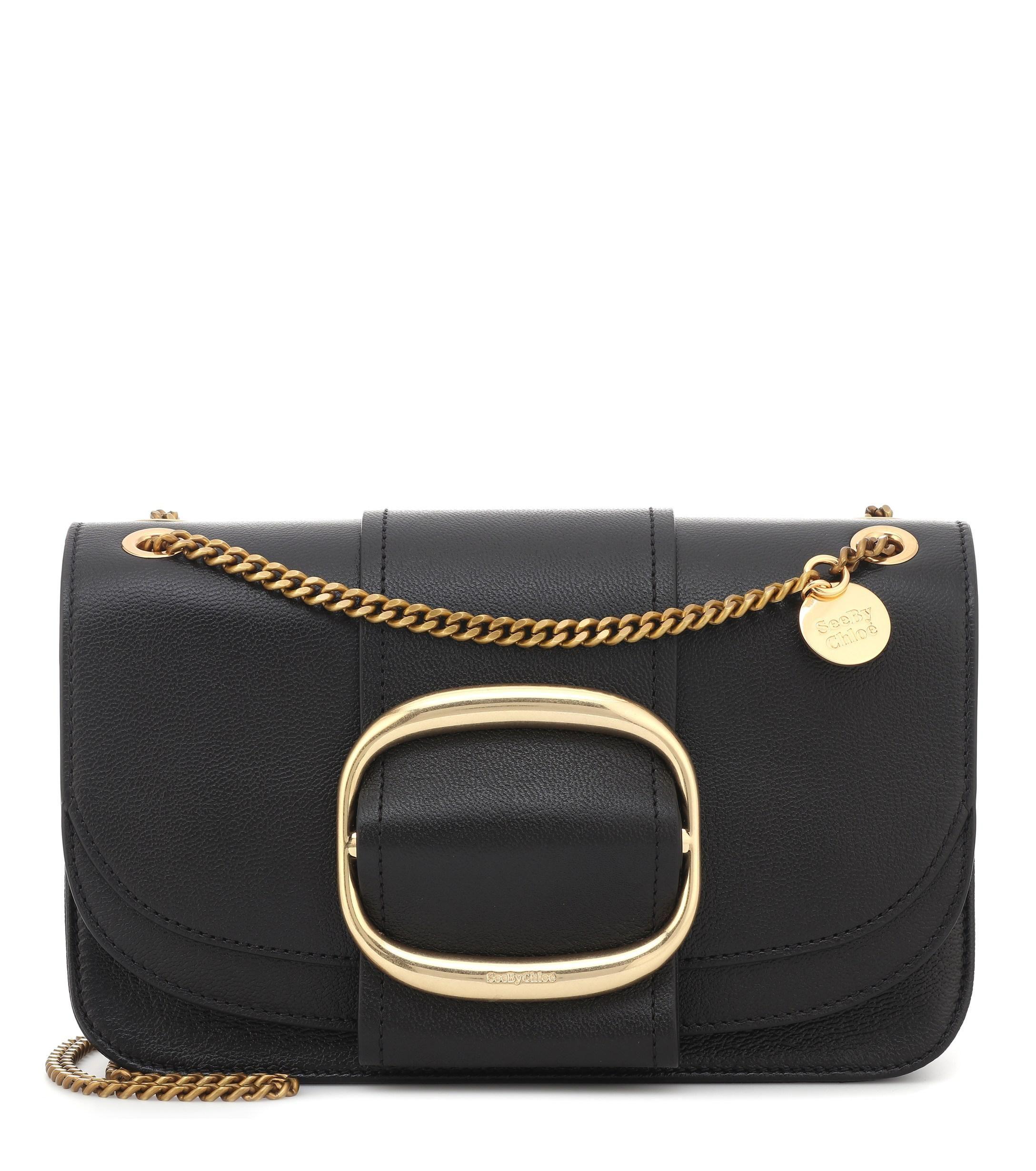 e24b637b Women's Black Hopper Medium Leather Shoulder Bag in 2019 | shoulder ...