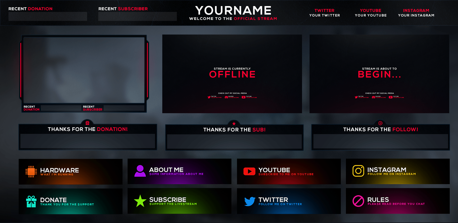 Twitch Stream Overlay All You Need To Know In The Graphics Arena Overlays Twitch Streaming
