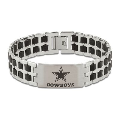 ac9da6532b869 Men's NFL Dallas Cowboys Bracelet in Stainless Steel | Jewelry ...