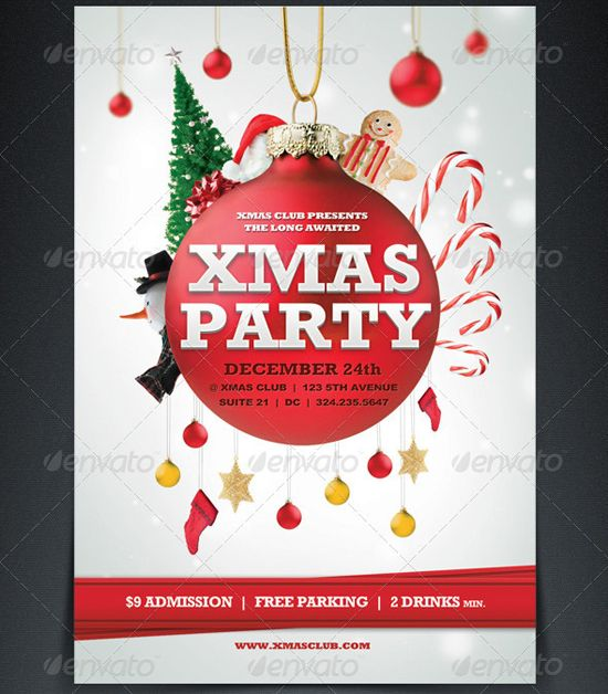 Xmas-Party-Flyer-Template.Jpeg (550×628) | Christmas | Pinterest