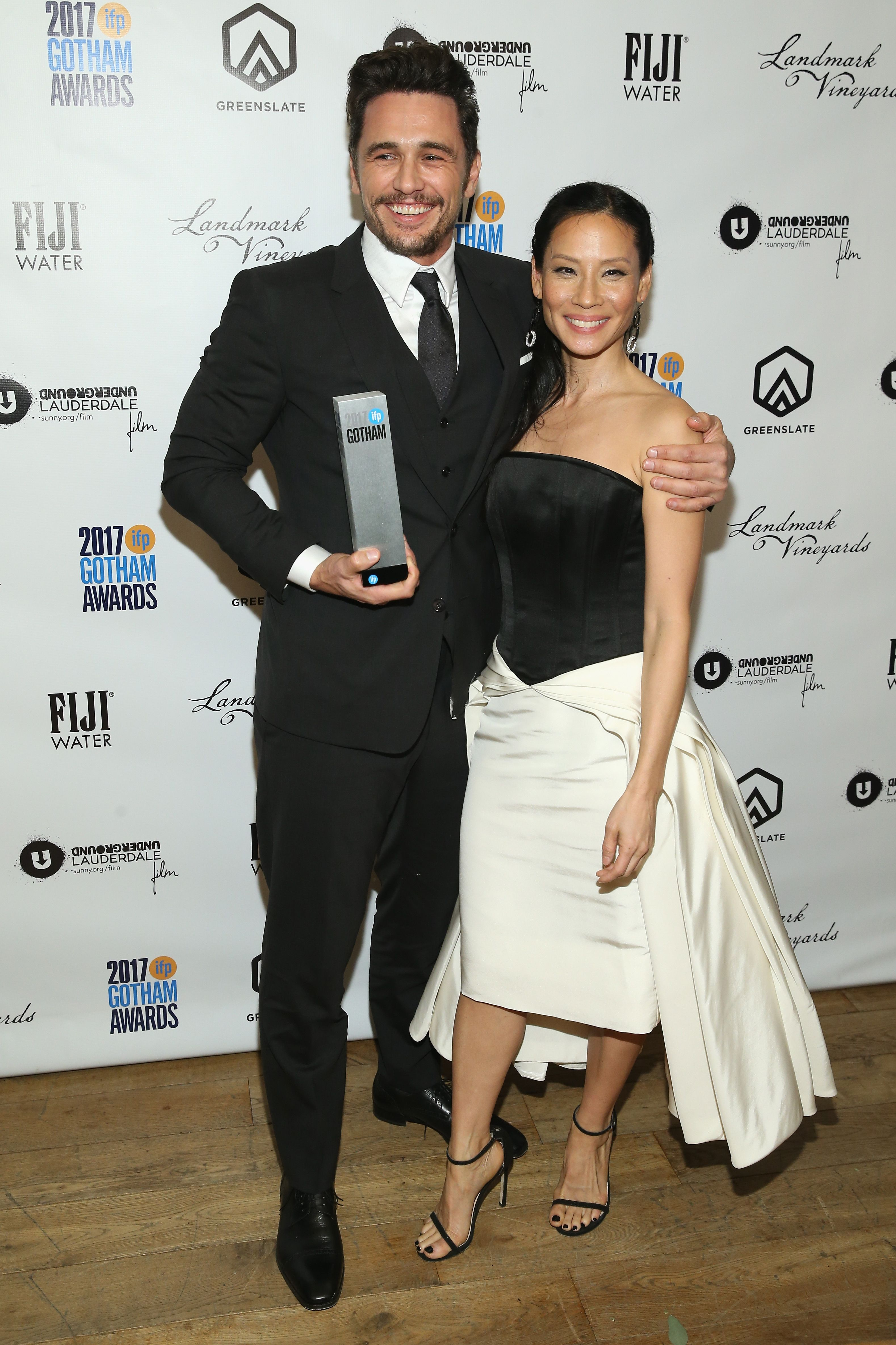 Lucy liu with james franco at the 2017 gotham awards in new york james franco nvjuhfo Choice Image