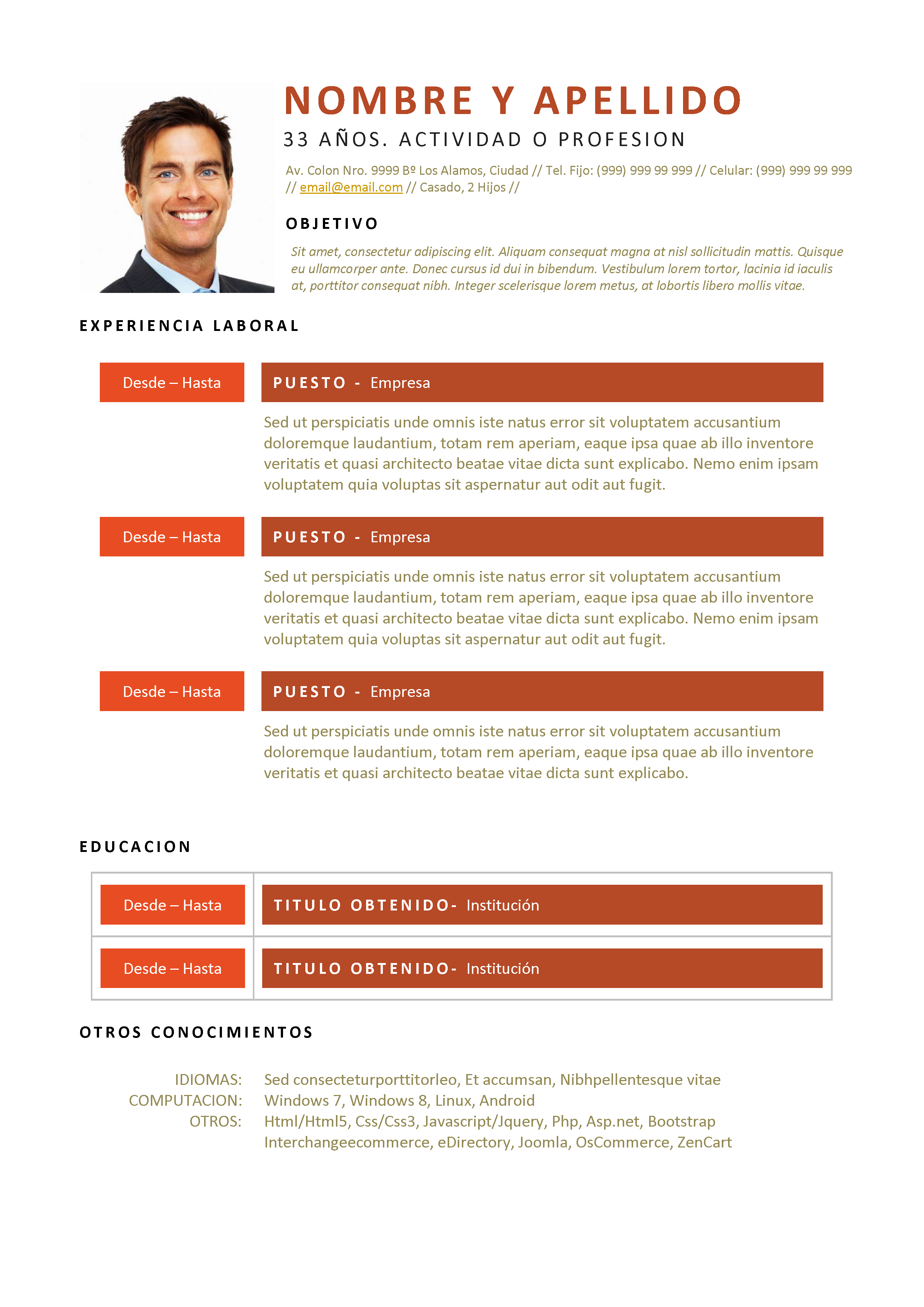 modelo de curriculum vitae simple - Selo.l-ink.co