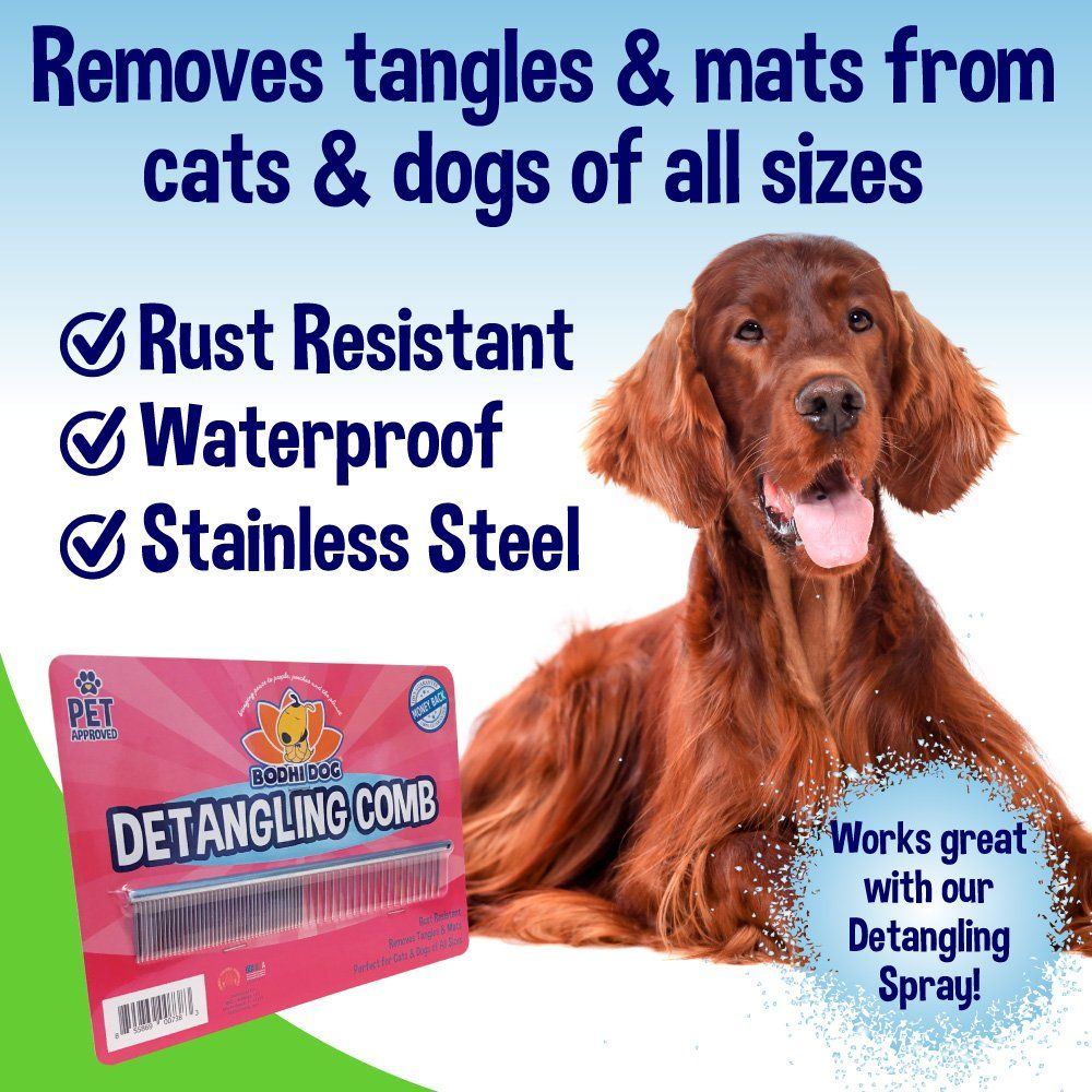 Premium Detangling Comb for Dogs and Cats Detangler