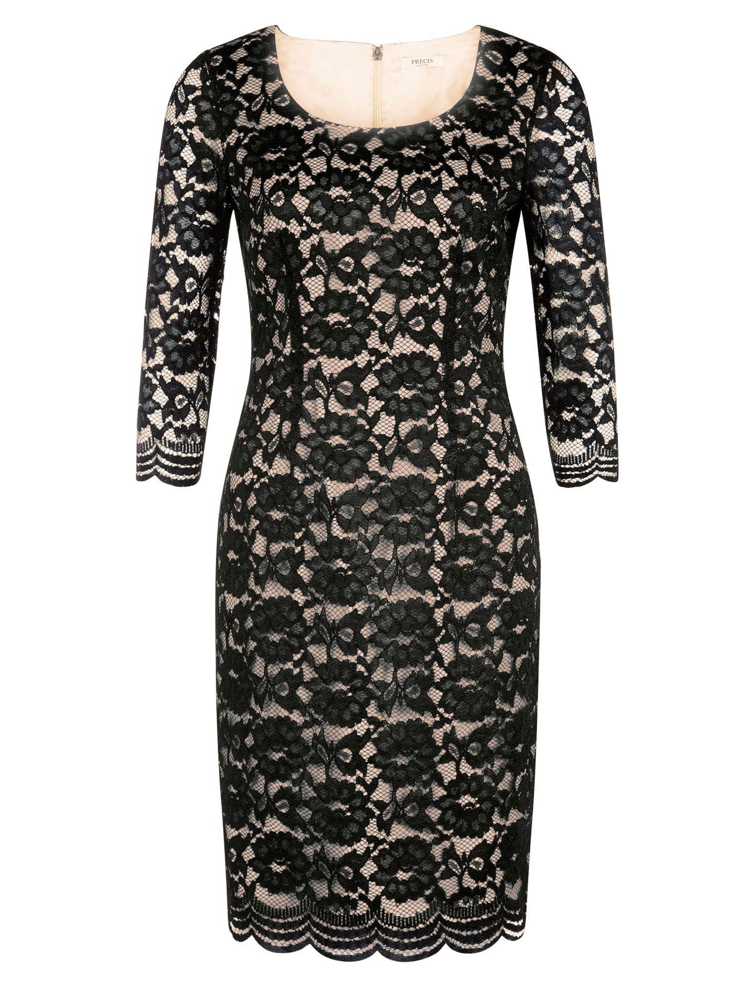 Precis Petite Black Lace Dress