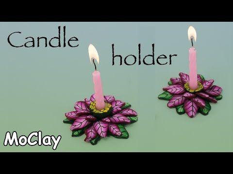 tutorial: miniature Christmas poinsettia candle holders