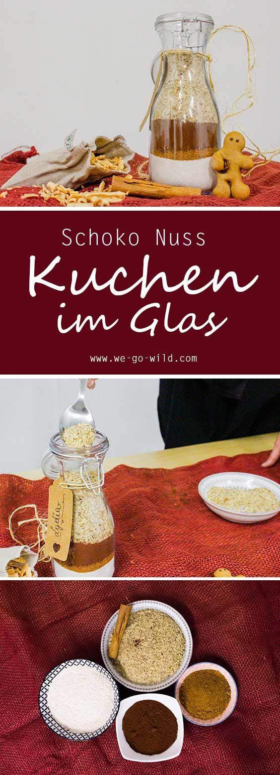 backmischung im glas selber machen saftiger schoko nuss kuchen kuchen im glas backmischung