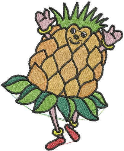 Pineapple Man Embroidery Design Annthegran Free Embroidery