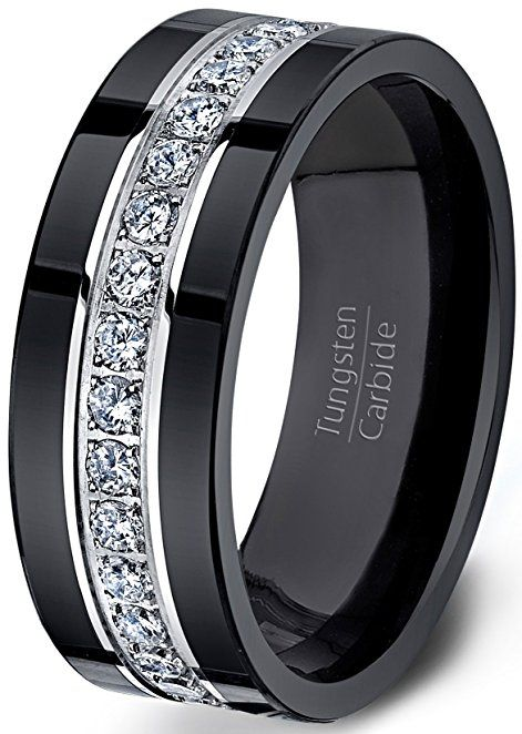 Dudee Trendy Ring Set Zircon Double Ring cz engagement ring