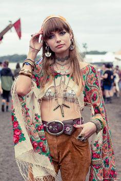 Collana Hippie Love d/'oro-Accessorio Costume Hippy 1960s 1970s Hippy
