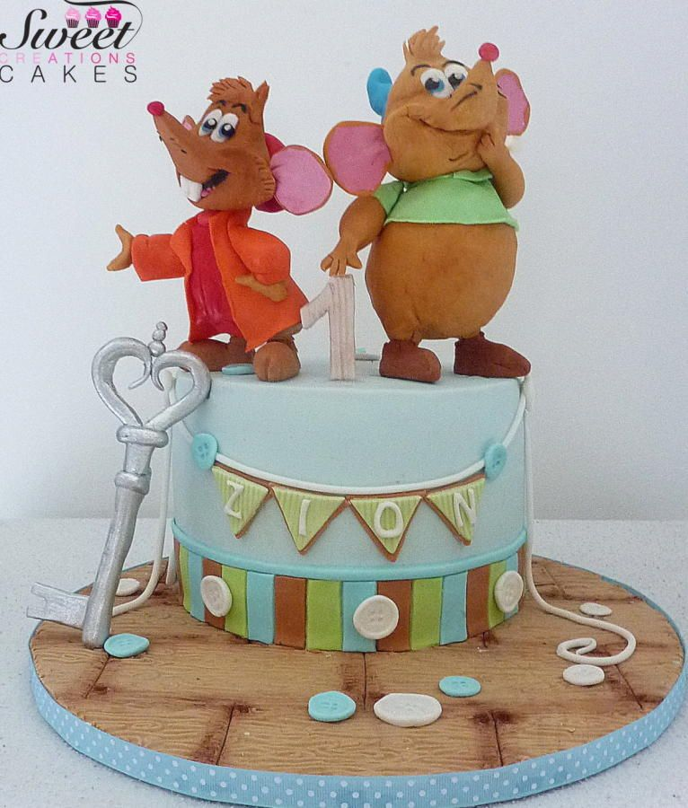 Gus and Jack cinderella cake Zion is a little boy who loves Gus and