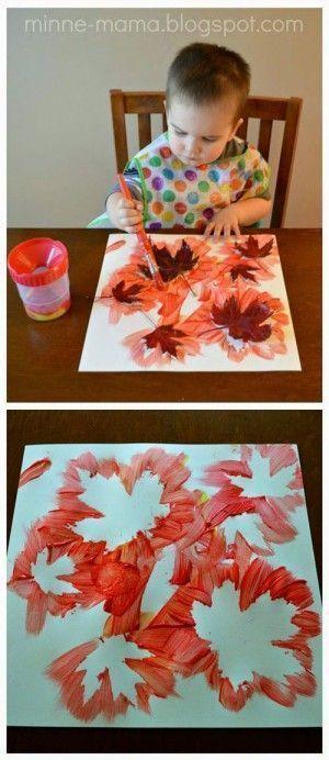 Herbst basteln für Kinder - Herbstblatt malen - #Basteln # für #Herbst # Herbst… - Malideen -... #herbstfensterdekokinder