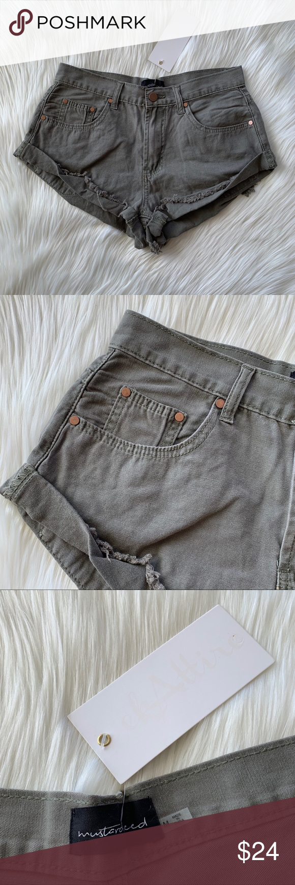 9ead61c7ad Mustard Seed Shorts Cuffed shorts with copper accents. Brand new with tags;  only flaw