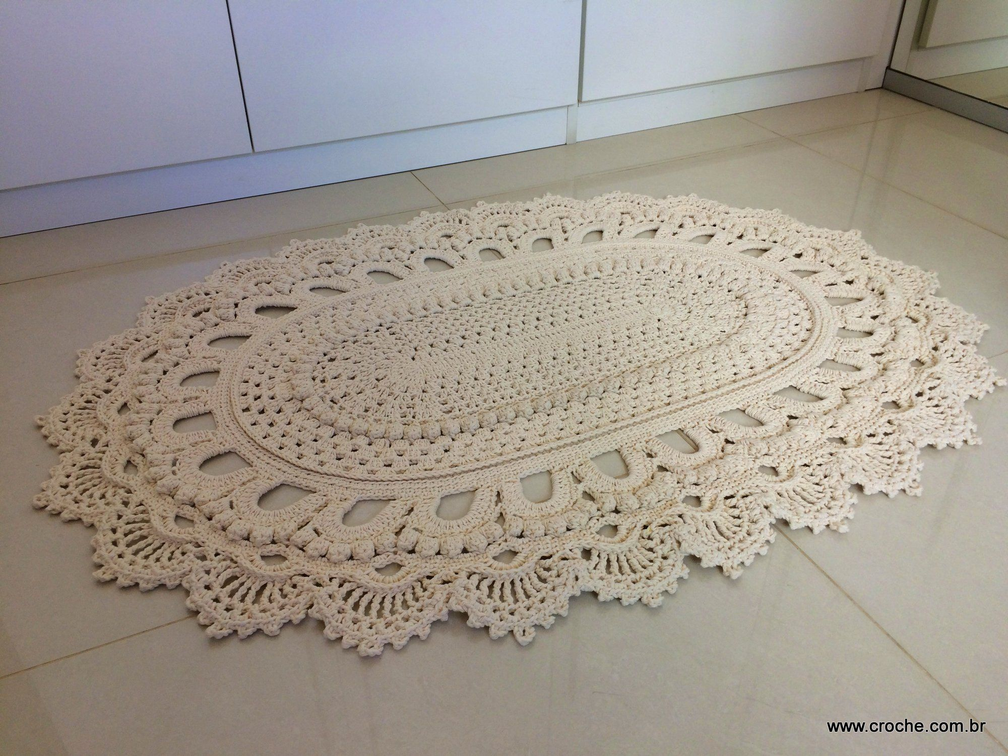 Tapete Oval Modelo Russo Passo A Passo Parte2 Crochet And Crafts -> Tapete De Croche Oval Simples Passo A Passo