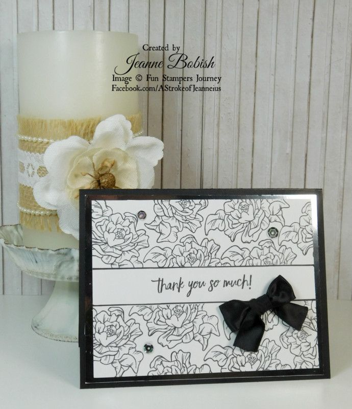 quick and easy elegant thank you card  thank you cards