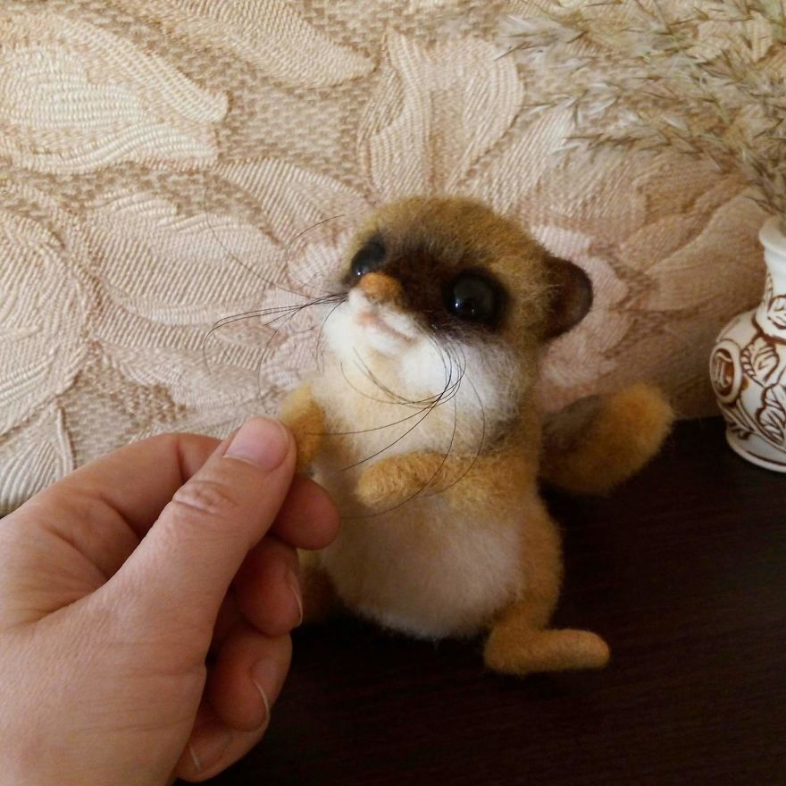 The Cute Felt Wool Animals of Russian Artist Could Hypnotize You With Their Googly Eyes 2 (Part1) #feltedwoolanimals