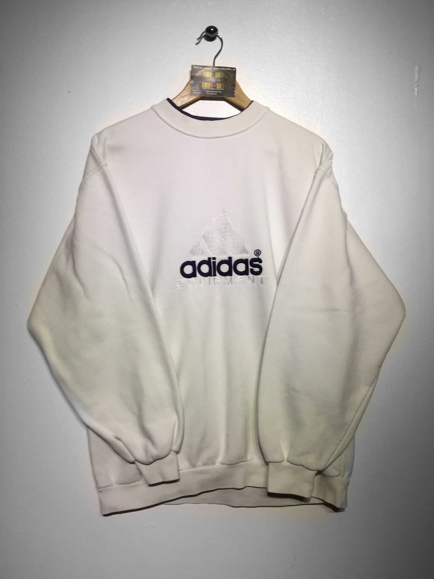 Vintage Adidas Sweatshirt Embroidery Logo Sports Wear Streetwear Pull Over Crew Neck Sweater Size L dsVntE